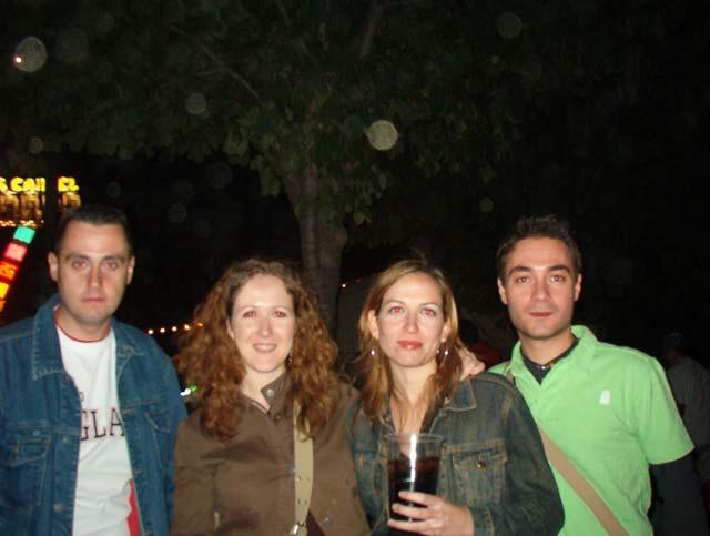 Con los amigos de Bea