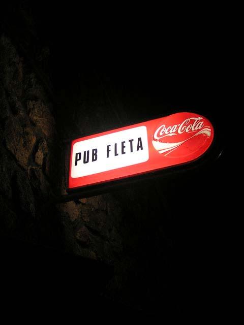 Cartel del pub Fleta