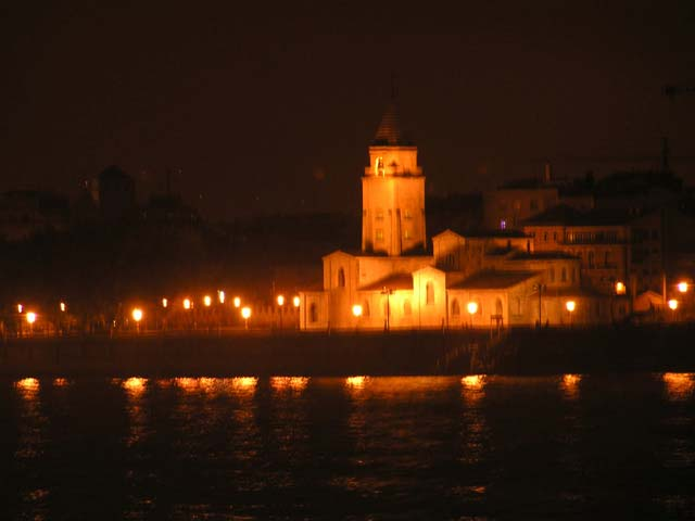 Playa de Gijón por la noche