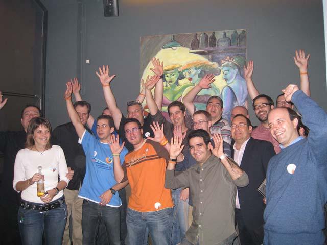 Foto del grupo con la camara de Tristan