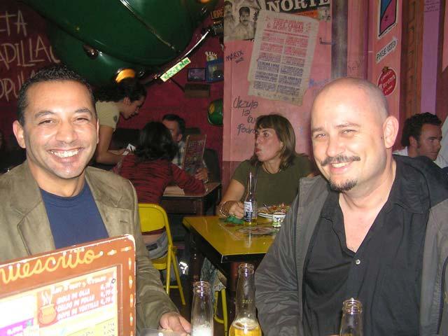 De cena en un mexicano