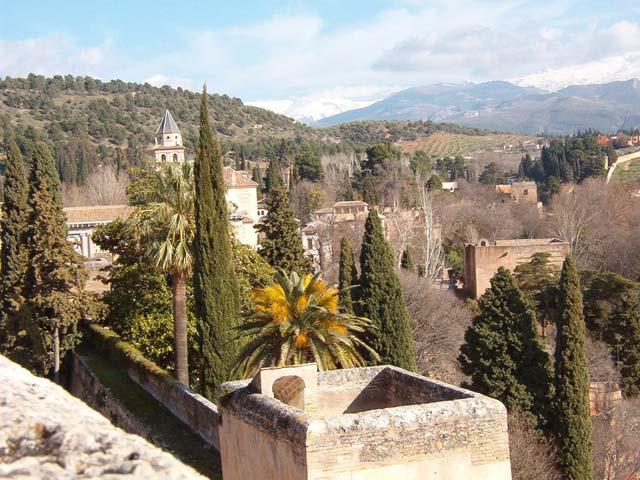 Vegetación de la Alhambra