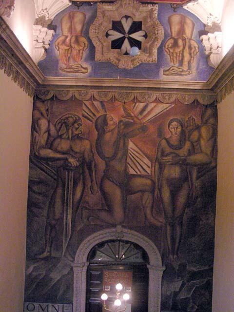 Striptm mural de orozco en el sanborns de la casa de los for Sanborns de azulejos