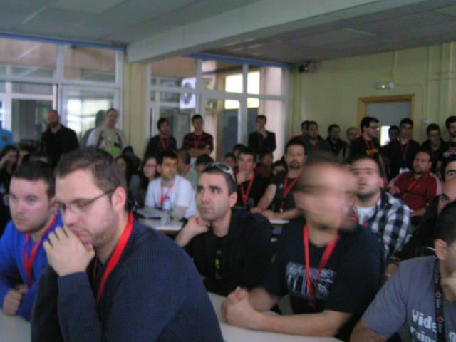 Durante la charla Boot2Gecko