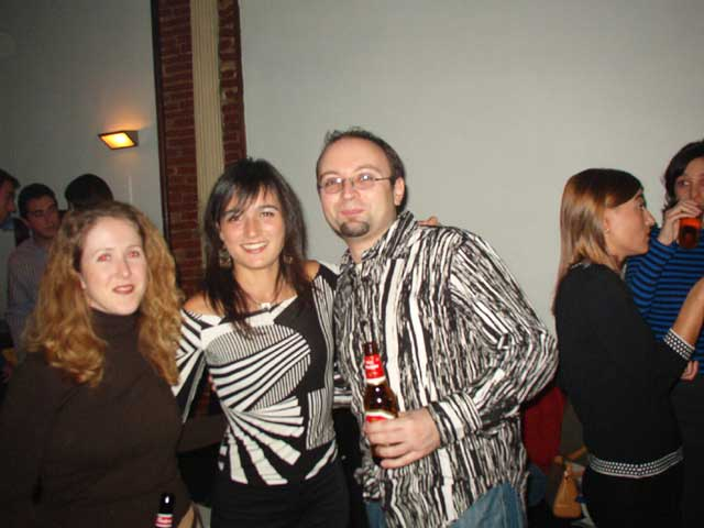 Pili, Mónica y Xavier