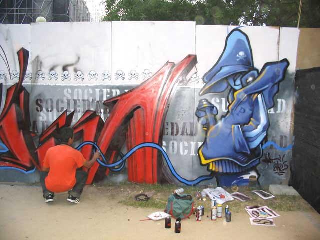 Graffiti de Mast