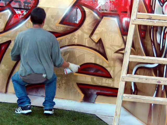Mast pintando I