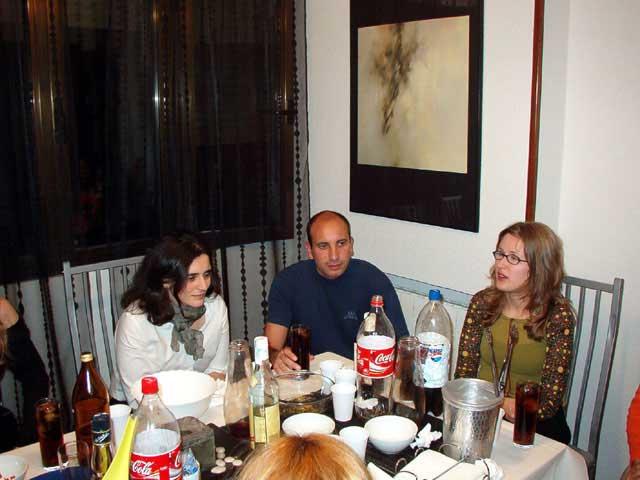 Celia, David y Cris