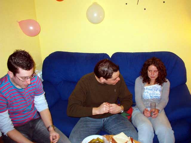 Quique, Guillermo y Tania