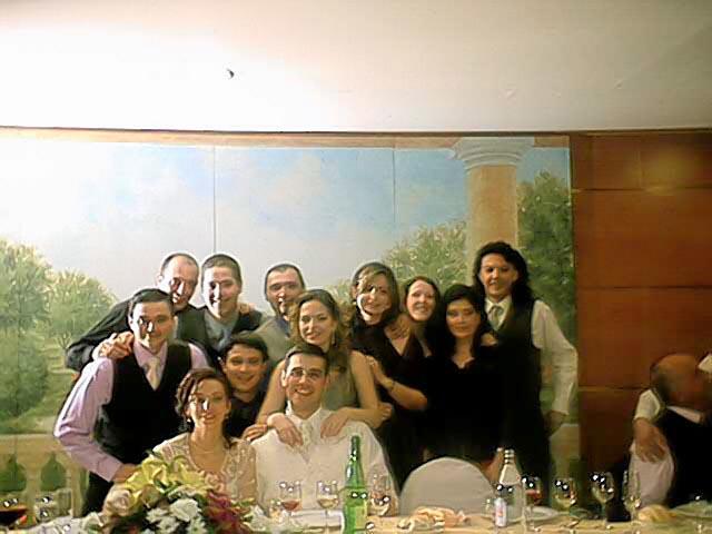 Grupo en banquete