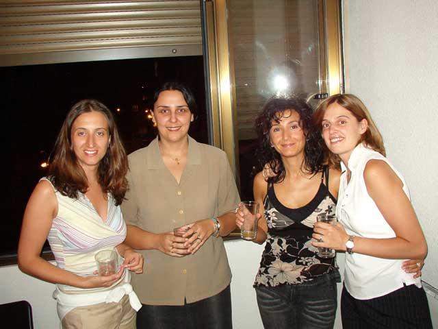 Esther, Virgi, Mar y María
