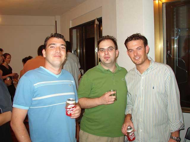 Pedro, Alex y Juanlu