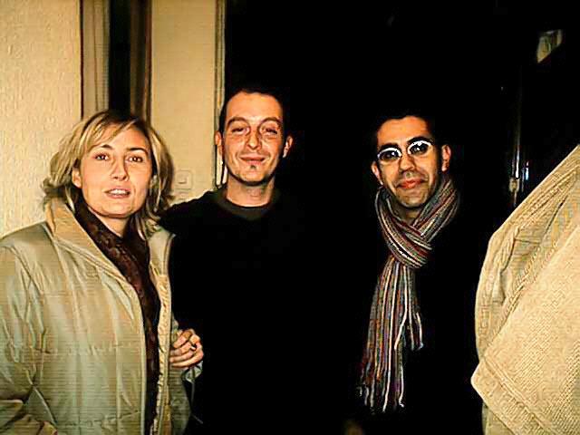 Rosa, novio y Javi