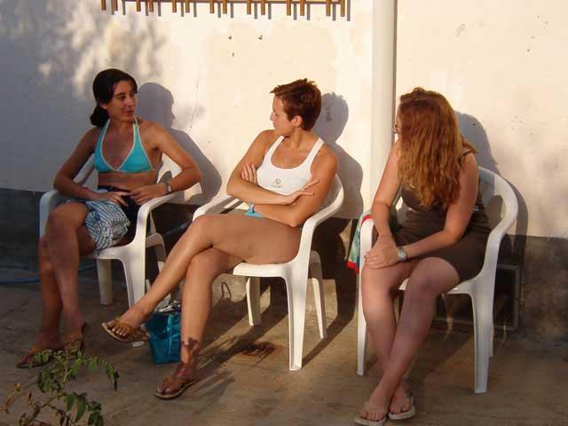 Susana, Sonia y Pili
