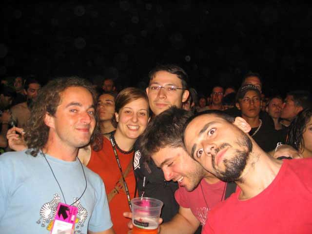 Con los amigos de Juan Carlos