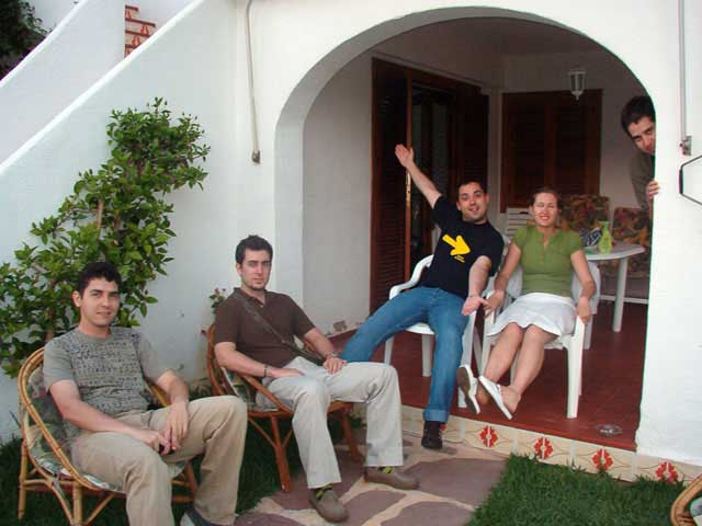 En el porche